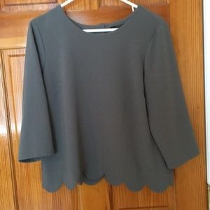 The Limited Gray Blouse - Medium
